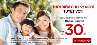 Vé bay đi Kuala Lumpur cùng Air Asia