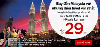 Bay cùng Air Asia đi Malaysia với 29 USD