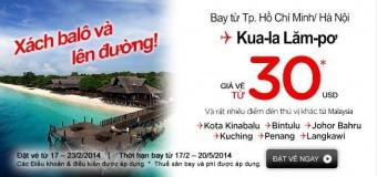 Cùng Air Asia chỉ 30 USD bay đến Kuala Lumpur