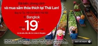 Vé máy bay đi Bangkok chỉ với 19 USD