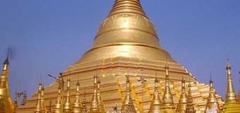 Ngôi chùa nghìn tuổi dát vàng ở Myanmar