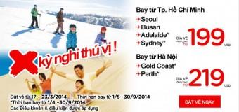 Khuyến mại đi Úc, Hàn Quốc với 199 USD