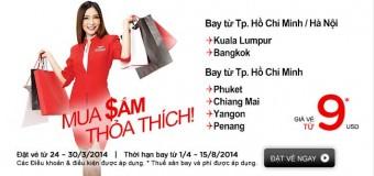 Khuyến mại Air Asia đến Kuala Lumpur và đến Bangkok