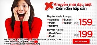 Từ Hà Nội và Kuala Lumpur bay đi Úc với 159 USD