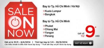 Vé Air Asia khuyến mại bay đi Kuala Lumpur , Bangkok
