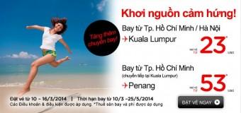 Tăng chuyến, giảm giá vé đặc biệt đến Malaysia