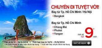 Chuyến bay tuyệt vời đến Bangkok cùng Air Asia với 40 USD