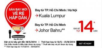 Đi Kuala Lua Lumpur và Johor Bahru 14 USD giá rẻ hấp dẫn