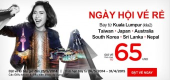 65 USD bay đến Malaysia xuất phát từ Kuala Lumpur