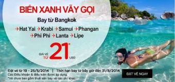 Du lịch Thái Lan xuất phát từ Bangkok giá chỉ 21 USD