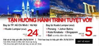 Tận hưởng hành trình tuyệt vời đi Kuala Lumpur chỉ 24 USD