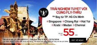 Cơ hội với 2.500.000 vé 0 đồng Air Asia đi Kuala Lumpur, Bangkok