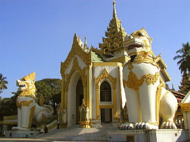 Shwedagon ngôi chùa vàng linh thiêng ở Yangon