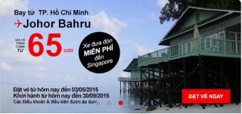 Hành trình du lịch Johor Bahru siêu rẻ chỉ 65 USD