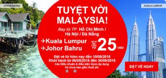 Cực rẻ chỉ 25 USD cho chuyến du lịch Malaysia