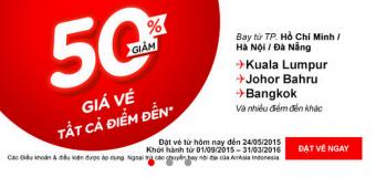 Vé máy bay đi Thái Lan, Malaysia chỉ còn 50%