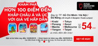 Chào hè 2015 với vé máy bay Air Asia chỉ từ 54 USD