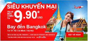 Siêu khuyến mại bay đến Bangkok chỉ từ 9.90 USD