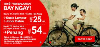 Air Asia đặt ngay và bay đi Malaysia chỉ từ 25 USD