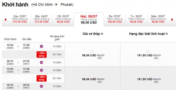 HCM-Phuket Air