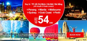 Giá vé một chiều đi Úc chỉ từ 54 USD