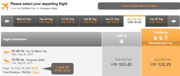 HCM-Bali rẻ