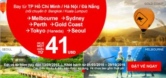 Bay nối chuyến du lịch châu Úc giá chỉ từ 41 USD