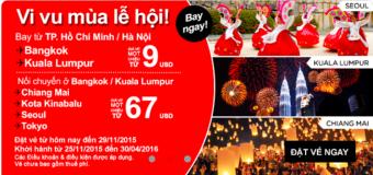Chỉ từ 9 USD sôi động mùa lễ hội cuối năm cùng Air Asia