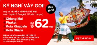 Du lịch khắp Đông Nam Á chỉ từ 62 USD