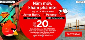 Bay ngay Malaysia trong tầm tay chỉ từ 20 USD