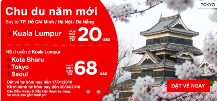 Chu du thế giới với vé siêu rẻ của Air Asia chỉ từ 20 USD