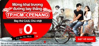 Vé 0 ĐỒNG cực hấp dẫn cho hành trình đến Penang