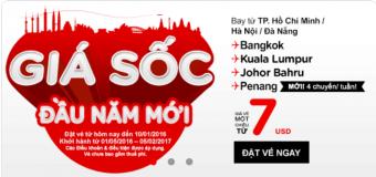 Chỉ từ 7 USD giá sốc đầu năm mới tới Thái Lan, Malaysia