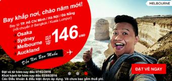 Chào năm mới với vé Air Asia chỉ từ 146 USD