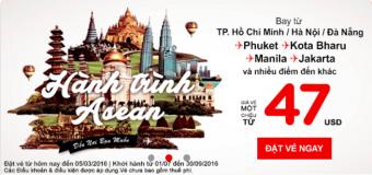 Vòng quanh Đông Nam Á với giá vé chỉ từ 47 USD