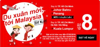 Tưng bừng xuân mới với vé Air Asia đi Malaysia chỉ từ 8 USD