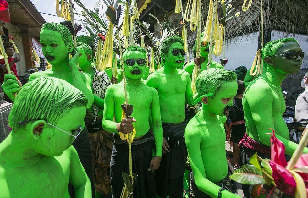 Lễ hội sơn người xua đuổi tà ma độc đáo Bali