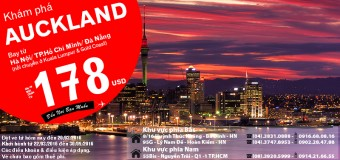 Chỉ từ 178 USD vé máy bay đi Auckland siêu rẻ