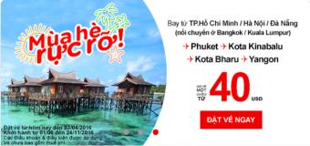 Khám phá mùa hè với Air Asia chỉ từ 40 USD