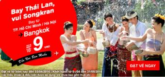 Vé hè Thái Lan một chiều siêu rẻ chỉ từ 9 USD