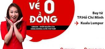 Air Asia ưu đãi khủng vé 0 ĐỒNG đi Kuala Lumpur