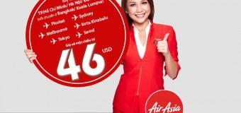 Cùng Air Asia đến nơi bạn muốn chỉ từ 46 USD