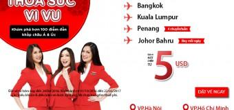 Chỉ từ 5 USD thỏa sức vi vu thế giới với Air Asia
