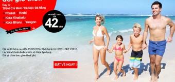 Cùng vé Air Asia chỉ từ 42 USD đổi gió du lịch mùa hè