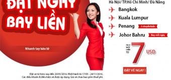 Đi du lịch ngay trong tầm tay với vé Air Asia chỉ từ 7 USD