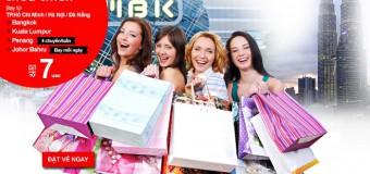 Thỏa thích mua sắm với vé Air Asia chỉ từ 7 USD đi Malaysia, Thái Lan