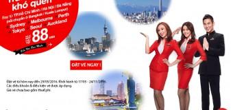 Dễ dàng du lịch hè châu Á và châu Úc chỉ từ 88 USD