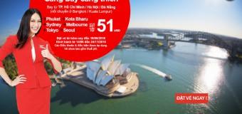 Càng bay càng thích với vé Air Asia khắp thế giới chỉ từ 51 USD