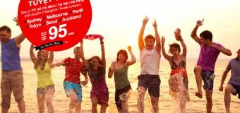 Tận hưởng kỳ nghỉ tuyệt vời với vé Air Asia chỉ từ 95 USD cực rẻ