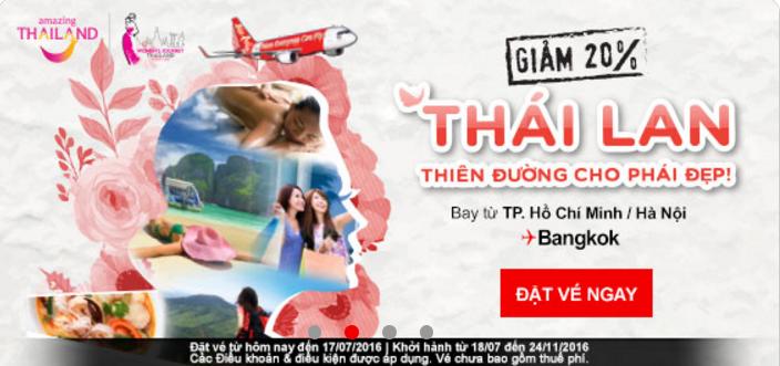 Du lịch thiên đường Thái Lan giảm 20% vé máy bay siêu rẻ